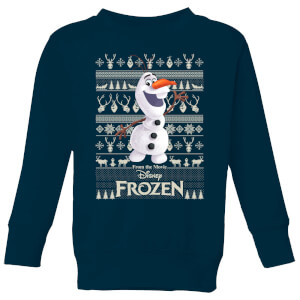 Disney Frozen Olaf Kids Christmas Sweater - Navy