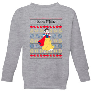 Disney Classic Snow White Kids Christmas Sweater - Grey