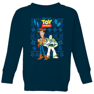 Disney Toy Story Kids Christmas Sweatshirt - Navy