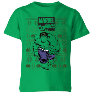 Marvel Avengers Hulk Kids Christmas T-Shirt - Kelly Green