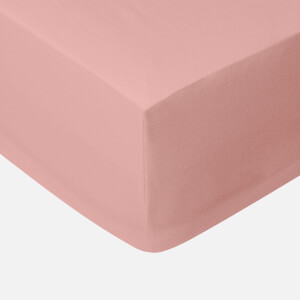 in homeware 200 Thread Count 100% Cotton Fitted Sheet - Light Pink