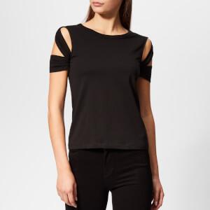 Helmut Lang Women's Bondage Sleeve T-Shirt - Black