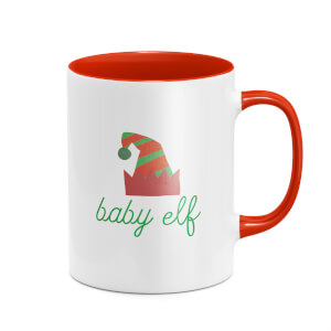 Baby Elf Mug - White/Red