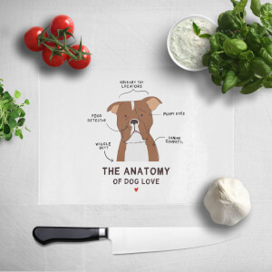 The Anatomy Of Dog Love Chopping Board