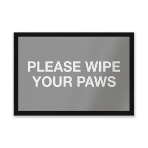 Please Wipe Your Paws Entrance Mat
