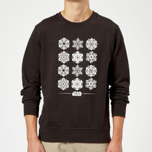 Star Wars Snowflake Christmas Sweatshirt - Black