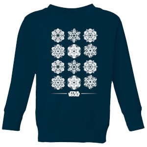 Star Wars Snowflake Kids Christmas Sweatshirt - Navy