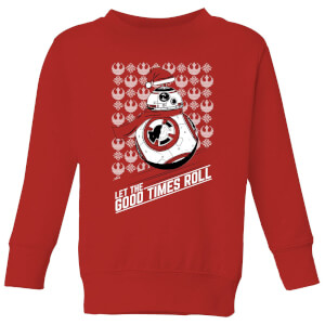 Star Wars Let The Good Times Roll Kids Christmas Sweater - Red