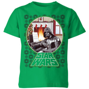 Star Wars A Very Merry Sithmas Kids Christmas T-Shirt - Kelly Green