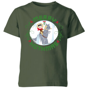 Star Wars Merry Hothmas Kids Christmas T-Shirt - Forest Green