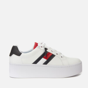 Tommy Jeans Women's Icon Leather Flatform Trainers - Red/White/Blue