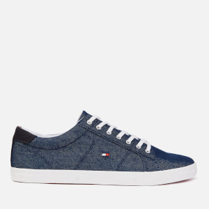 Tommy Hilfiger Men's Essential Long Lace Low Top Trainers - Midnight
