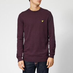 Lyle & Scott Men's Crew Neck Cotton Merino Jumper - Deep Plum