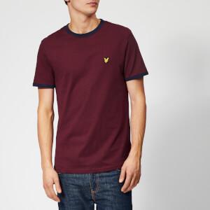 Lyle & Scott Men's Ringer T-Shirt - Claret Jug