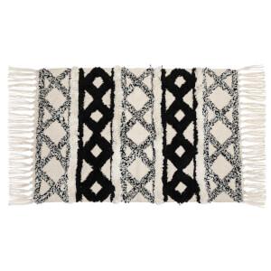 Sass & Belle Scandi Boho Cotton White Tassel Rug