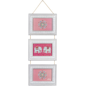 Sass & Belle Triple Hanging Wooden Photo Frame
