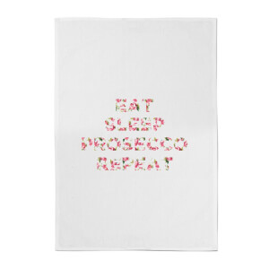 Eat Sleep Prosecco Repeat Cotton Tea Towel