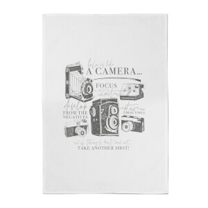 Life Is Like A Camera Cotton Tea Towel