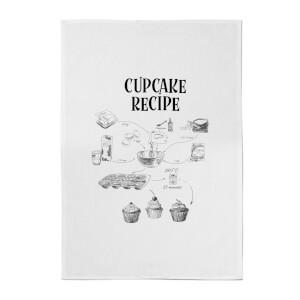 Cupcake Recipe Cotton Tea Towel