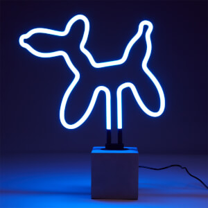 Exclusive Balloon Dog Neon Light - Concrete Base