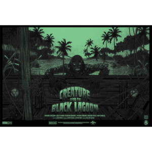 Creature From the Black Lagoon 24 x 36 Inches Glow in the Dark Screenprint Variant by Germain Mainger - Zavvi Exclusive (Limited to 50 worldwide)