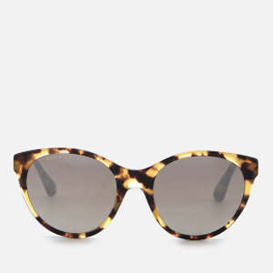 Gucci Women's Oval Tortoiseshell Sunglasses - Brown