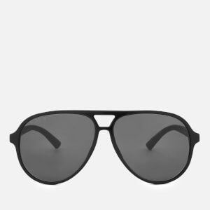 Gucci Men's Aviator Style Sunglasses - Black