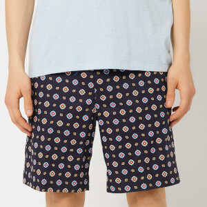 KENZO Men's Patterned Shorts - Midnight Blue