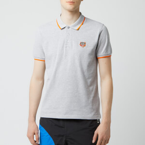 KENZO Men's Tipped Polo Shirt - Pale Grey