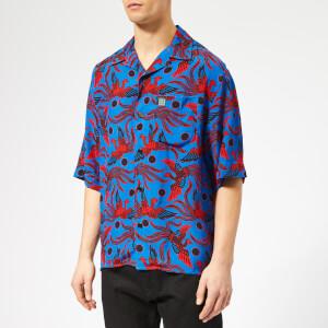 KENZO Men's Phoenix Print Viscose Shirt - Blue