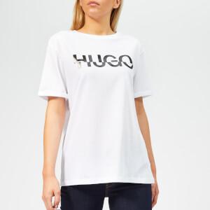 0389a44b31e HUGO Women s Denalisa Logo T-Shirt - White