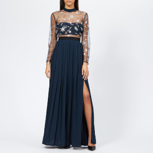 Self-Portrait Women's Star Tulle Embellished Maxi Dress - Navy