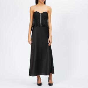Self-Portrait Women's Floral Scallop Lace Bandeau Dress - Black