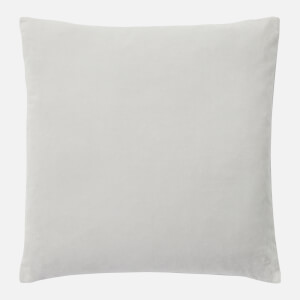 in homeware Feather Filled Velvet Cushion - Silver