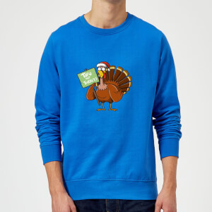 Tofu Not Turkey Christmas Sweatshirt - Royal Blue