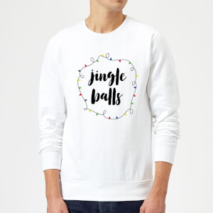 Jingle Balls Christmas Sweatshirt - White