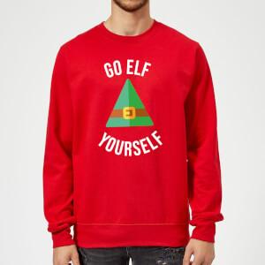 Go Elf Yourself Christmas Sweatshirt - Red