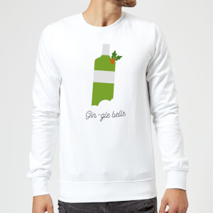 Gin-gle Bells Christmas Sweatshirt - White
