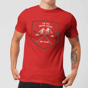 Up To Snow Good Men's Christmas T-Shirt - Red