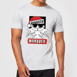Gangsta Wrapper Men's Christmas T-Shirt - Grey