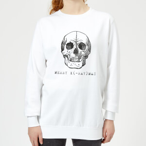 Merry X(-Ray) Mas Women's Christmas Sweatshirt - White