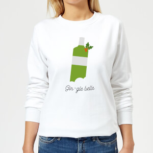 Gin-gle Bells Women's Christmas Sweatshirt - White