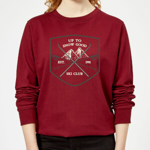 Up To Snow Good Women's Christmas Sweatshirt - Burgundy