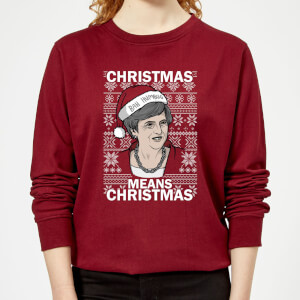 Christmas Means Christmas Women's Christmas Sweatshirt - Burgundy