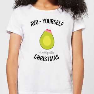 Avo-Yourself A Merry Little Christmas Women's Christmas T-Shirt - White