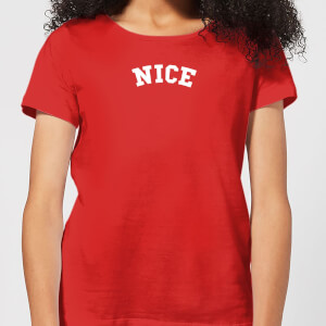 Nice Women's Christmas T-Shirt - Red