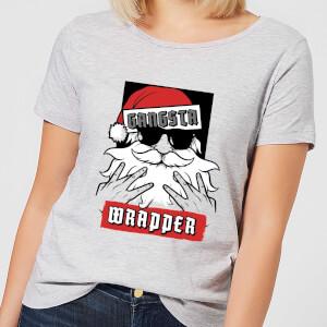 Gangsta Wrapper Women's Christmas T-Shirt - Grey