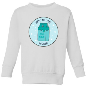 Soy To The World Kids' Christmas Sweatshirt - White