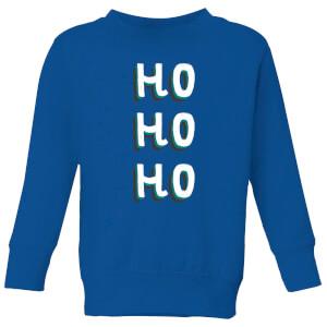 Ho Ho Ho Kids' Christmas Sweatshirt - Royal Blue