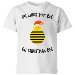 Oh Christmas Bee Oh Christmas Bee Kids' Christmas T-Shirt - White